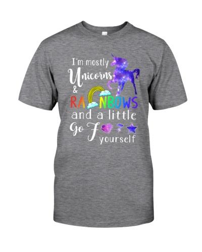 I'm Mostly Unicorns Rainbows And A Little Go Fuck