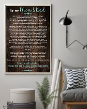To My Mom Dad Wood 11x17 Poster lifestyle-poster-1