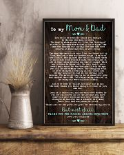 To My Mom Dad Wood 11x17 Poster lifestyle-poster-3