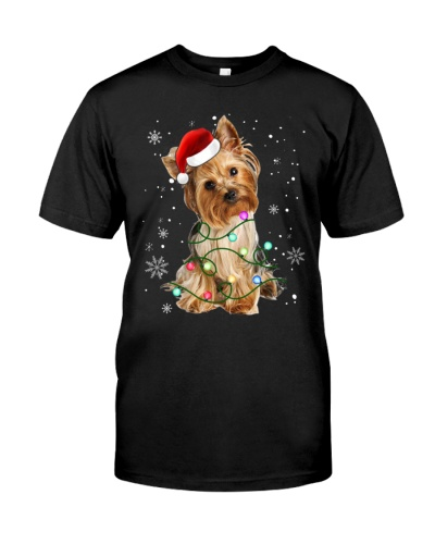 Yorkshire Terrier Dog Light Christmas