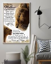 To My Mother Little Boy Son Lion Poster 11x17 Poster lifestyle-poster-1