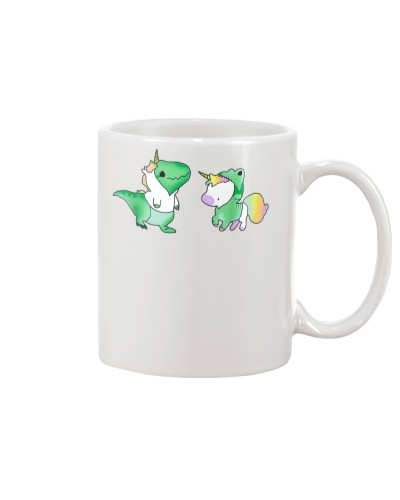 Unicorn With Dinosaur