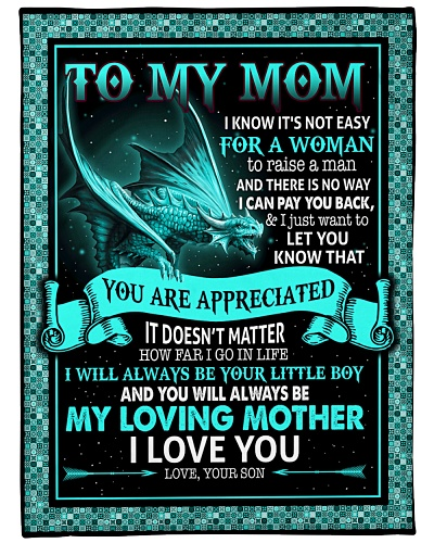 To My Mom Mother I Love You Dragon