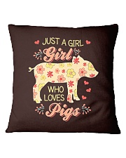 Just A Girl Who Loves Pigs Square Pillowcase thumbnail