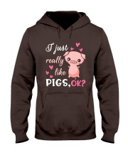 I Just Really Like Pigs Hooded Sweatshirt thumbnail
