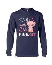 I Just Really Like Pigs Long Sleeve Tee thumbnail