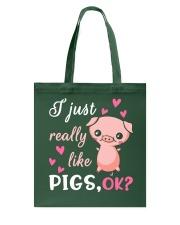 I Just Really Like Pigs Tote Bag thumbnail