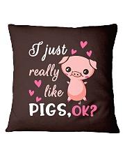 I Just Really Like Pigs Square Pillowcase thumbnail