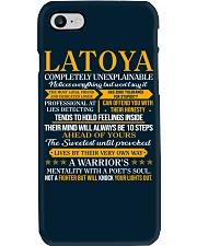LATOYA - COMPLETELY UNEXPLAINABLE Phone Case thumbnail