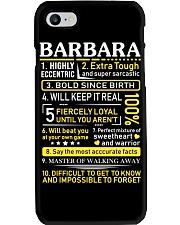 Barbara - Sweet Heart And Warrior Phone Case thumbnail
