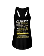 Carolina - Sweet Heart And Warrior Ladies Flowy Tank thumbnail