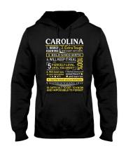 Carolina - Sweet Heart And Warrior Hooded Sweatshirt thumbnail