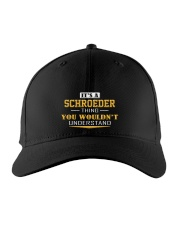 SCHROEDER - Thing You Wouldnt Understand Embroidered Hat front
