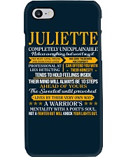 JULIETTE - COMPLETELY UNEXPLAINABLE Phone Case thumbnail