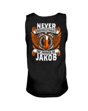 NEVER UNDERESTIMATE THE POWER OF JAKOB Unisex Tank thumbnail