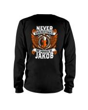 NEVER UNDERESTIMATE THE POWER OF JAKOB Long Sleeve Tee thumbnail