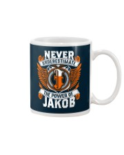NEVER UNDERESTIMATE THE POWER OF JAKOB Mug thumbnail