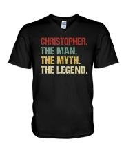 THE LEGEND - Christopher V-Neck T-Shirt thumbnail