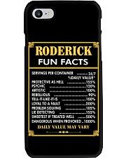 Roderick fun facts Phone Case thumbnail
