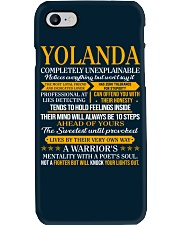 YOLANDA - COMPLETELY UNEXPLAINABLE Phone Case thumbnail
