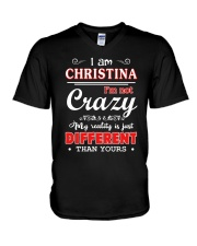 Christina-My reality is just different than yours V-Neck T-Shirt thumbnail