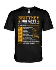 Brittney Fun Facts V-Neck T-Shirt thumbnail