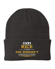RICE - Thing You Wouldnt Understand Knit Beanie thumbnail