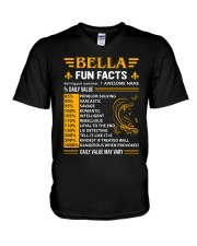 Bella Fun Facts V-Neck T-Shirt thumbnail