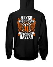 NEVER UNDERESTIMATE THE POWER OF HASSAN Hooded Sweatshirt thumbnail