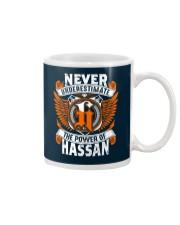 NEVER UNDERESTIMATE THE POWER OF HASSAN Mug thumbnail