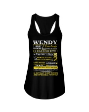 Wendy - Sweet Heart And Warrior Ladies Flowy Tank thumbnail