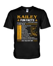 Kailey Fun Facts V-Neck T-Shirt thumbnail