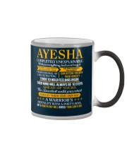 AYESHA - COMPLETELY UNEXPLAINABLE Color Changing Mug thumbnail