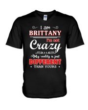 Brittany - My reality is just different than yours V-Neck T-Shirt thumbnail