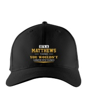 MATTHEWS - Thing You Wouldnt Understand Embroidered Hat front