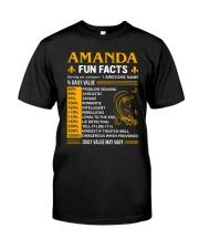 Amanda Fun Facts Classic T-Shirt front