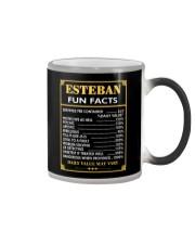 Esteban fun facts Color Changing Mug thumbnail