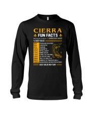 Cierra Fun Facts Long Sleeve Tee thumbnail