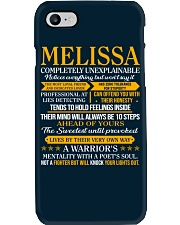 MELISSA - COMPLETELY UNEXPLAINABLE Phone Case thumbnail