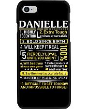 Danielle - Sweet Heart And Warrior Phone Case thumbnail