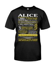 Alice - Sweet Heart And Warrior Classic T-Shirt front