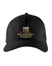 COX - Thing You Wouldnt Understand Embroidered Hat front