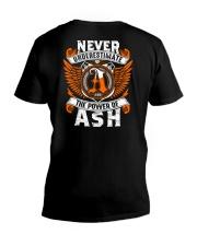 NEVER UNDERESTIMATE THE POWER OF ASH V-Neck T-Shirt thumbnail