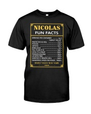 Nicolas fun facts Classic T-Shirt front