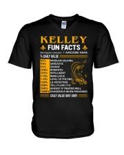 Kelley Fun Facts V-Neck T-Shirt thumbnail