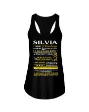 Silvia - Sweet Heart And Warrior Ladies Flowy Tank thumbnail