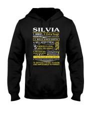 Silvia - Sweet Heart And Warrior Hooded Sweatshirt thumbnail