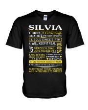 Silvia - Sweet Heart And Warrior V-Neck T-Shirt thumbnail