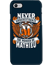 NEVER UNDERESTIMATE THE POWER OF MATHIEU Phone Case thumbnail