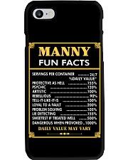 Manny fun facts Phone Case thumbnail